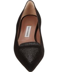 Tabitha Simmons Alexa Jeweled Flats - Lyst