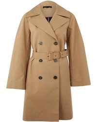 The Row Beige Arve Trench Coat - Lyst