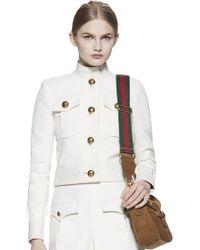 Gucci Techno Cotton Cropped Jacket white - Lyst