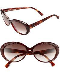 Dior Women'S Christian 'Taffeta 3/S' 56Mm Sunglasses - Red Havana - Lyst
