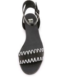 Joe's Jeans - Reba Flat Sandals - Papaya/Sand - Lyst