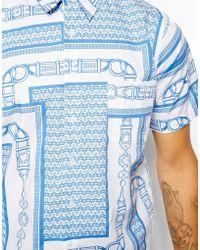Christopher Shannon | Kidda Shirt With Belt Print | Lyst