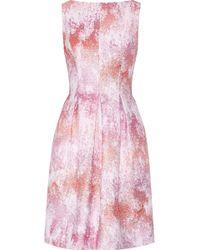 Lela Rose Metallic Tweed Dress - Lyst