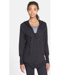 Zella 'Urban Zen' Hooded Cotton & Modal Cardigan - Lyst