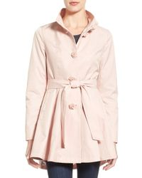 Betsey Johnson - Belted High-low Trench Coat - Lyst