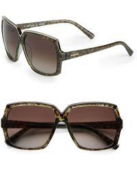 Valentino 58mm Hexagonal Sunglasses - Lyst