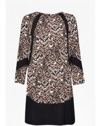 French Connection Leopard Moth Tunic Dress - Lyst