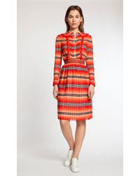 Temperley London Bacall Blouse red - Lyst