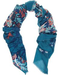 We Are Owls Fallen Printed Cashmere Scarf - Lyst