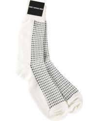 Issey Miyake Printed Socks - Lyst
