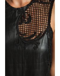 Shakuhachi - Leather Embroidered Shift - Lyst