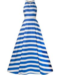 Alice + Olivia Long Striped Open Back Dress - Lyst