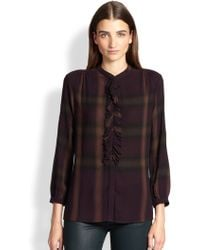 Burberry Brit Knit Check Blouse - Lyst