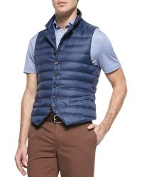 Brunello Cucinelli Quilted Notch-Lapel Vest - Lyst