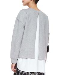 Thakoon Addition - Flocked Floral Sweatshirt - Lyst