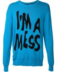 Jeremy Scott Im A Mess Sweater - Lyst