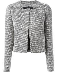 N°21 Cropped Tweed Jacket - Lyst