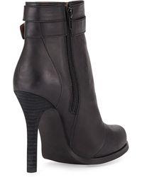 Jeffrey Campbell Belair Leather High-Heel Bootie - Lyst