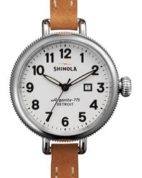 Shinola The Birdy Stainless Doublewrap Watch 34mm - Lyst