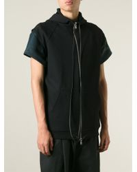 Berthold - Short Sleeve Textured Hoodie - Lyst
