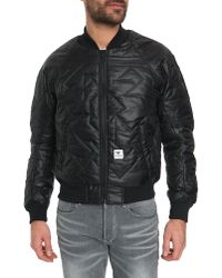 G-Star RAW Vivial Black Quilted Nylon Bomber Jacket - Lyst