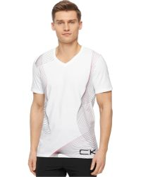 Calvin Klein Ck Performance By Gradient Pattern T-Shirt - Lyst
