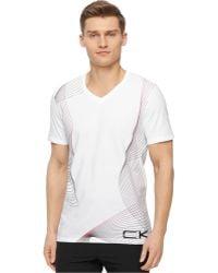 Calvin Klein Performance Gradient Pattern T-Shirt white - Lyst