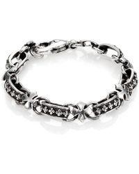 King Baby Studio Cross Light Link Bracelet - Lyst