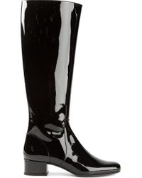 Saint Laurent Mid-Calf Riding Boots - Lyst