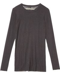 Enza Costa Cashmere Long Sleeve Tee - Lyst