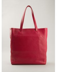 Emporio Armani Pink Large Tote - Lyst