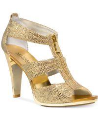 Michael Kors Michael Berkley T-Strap Evening Sandals - Lyst