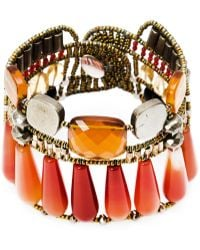 Ziio - Murano Glass Beaded Bracelet - Lyst