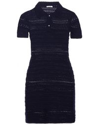 Miu Miu Cotton Crochet-knit Dress - Lyst