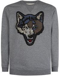 Diesel Embroidered Wolf Sweater - Lyst