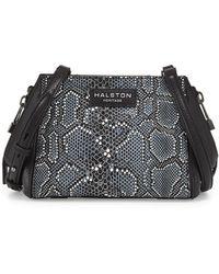 Halston Heritage | Liza Python-print Leather Crossbody Bag | Lyst