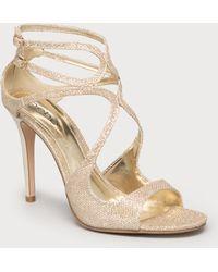Bebe Krystal Glitter Sandals - Lyst