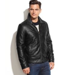 Tommy Hilfiger Classic Faux-Leather Jacket - Lyst