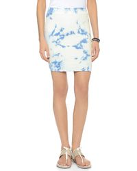 Pam & Gela - Side Ruched Skirt - Blue Skies Wash - Lyst