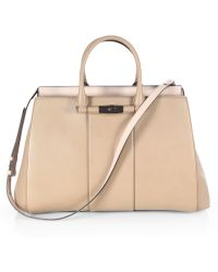 Gucci Lady Bamboo Leather Top Handle Bag - Lyst