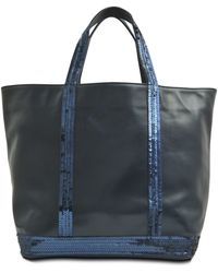 Vanessa Bruno Medium Tote Leather Sequins - Lyst