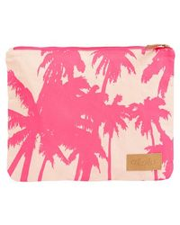Alola - Palm Print Canvas Clutch - Lyst