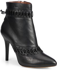 Tabitha Simmons Rue Stitched Leather Ankle Boots - Lyst