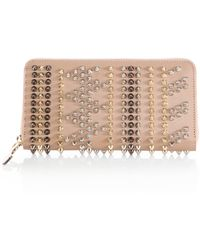 Christian Louboutin Studded Zip Wallet - Lyst