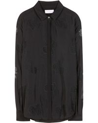 Mulberry Black Silk Blouse - Lyst