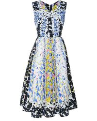 Peter Pilotto Rh Printed Cloqué Vneck Dress - Lyst