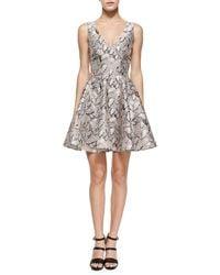 Opening Ceremony Leaf-Print Flared Jacquard Dress - Lyst