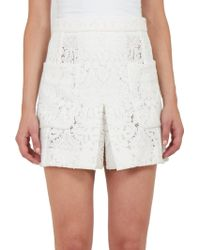 Chloé Pleated Lace Skirt white - Lyst