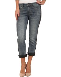 Michael by Michael Kors Bf Jeans W Side Panel in Medium Vintage Wash - Lyst