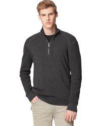 Calvin Klein Jeans Textured Quarter Zip Pullover - Lyst